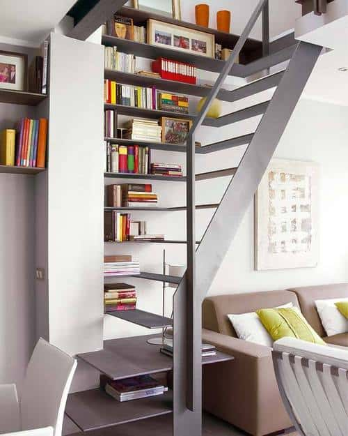 Compact Staircase Design For A Small Apartment
