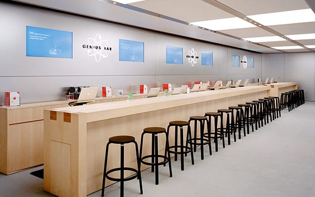 Apple stores interior design for Apple boutique mural