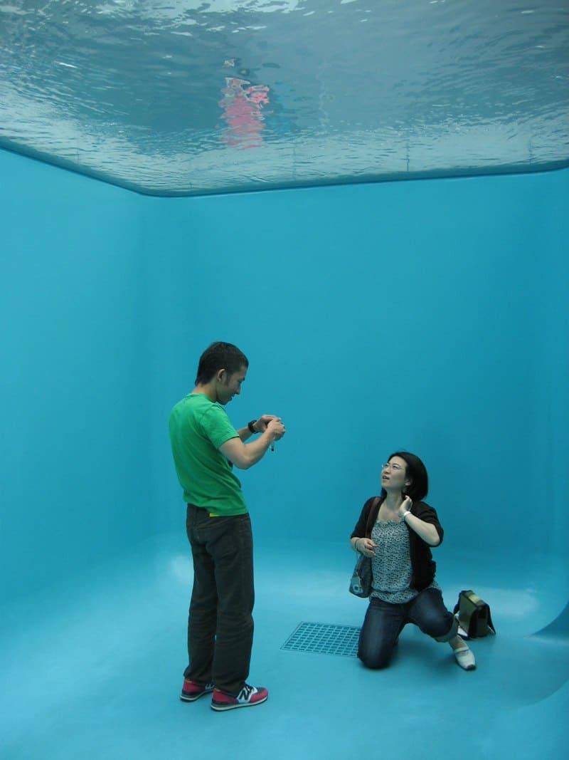 Leandro Erlich swimming pool - interior - modelling.