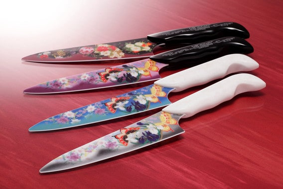 Butterflies On A Ceramic Knife