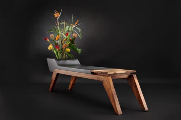 Wooden Bench Combined With A Flower Pot By Jory Brigham