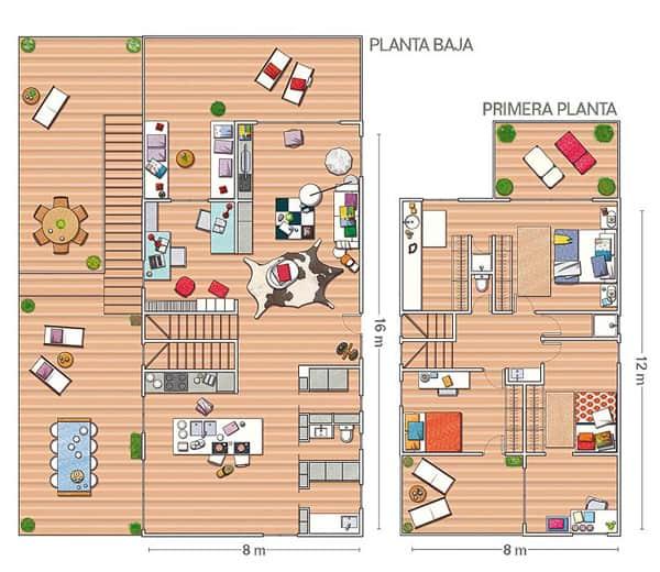 Renovated modern house in barcelona - Terraza casa de campo ...