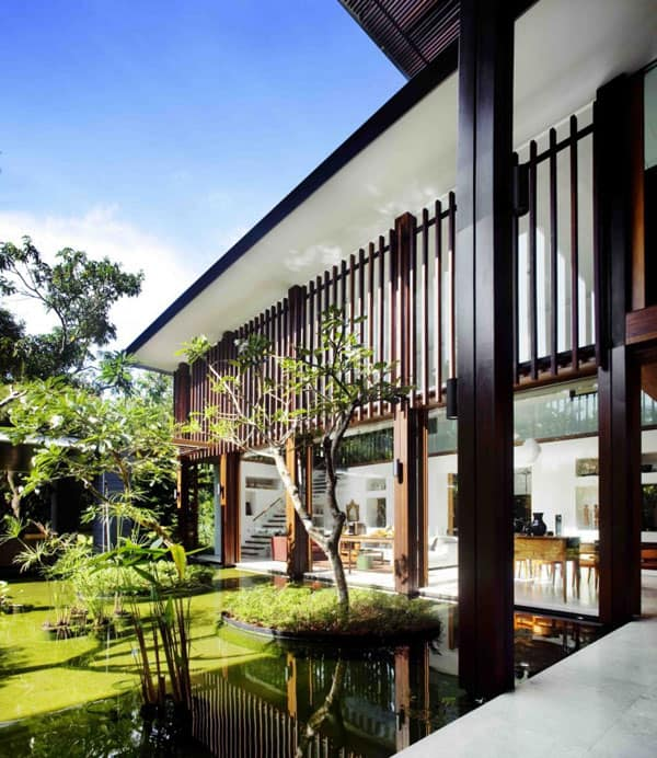 The Sun House By Guz Architects A Hevean Of Green In: Spectacular Contemporary Residence In Singapore: The Sun House