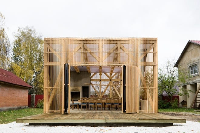 Open Air Pergola Structure By Kerimov Prishin Architects