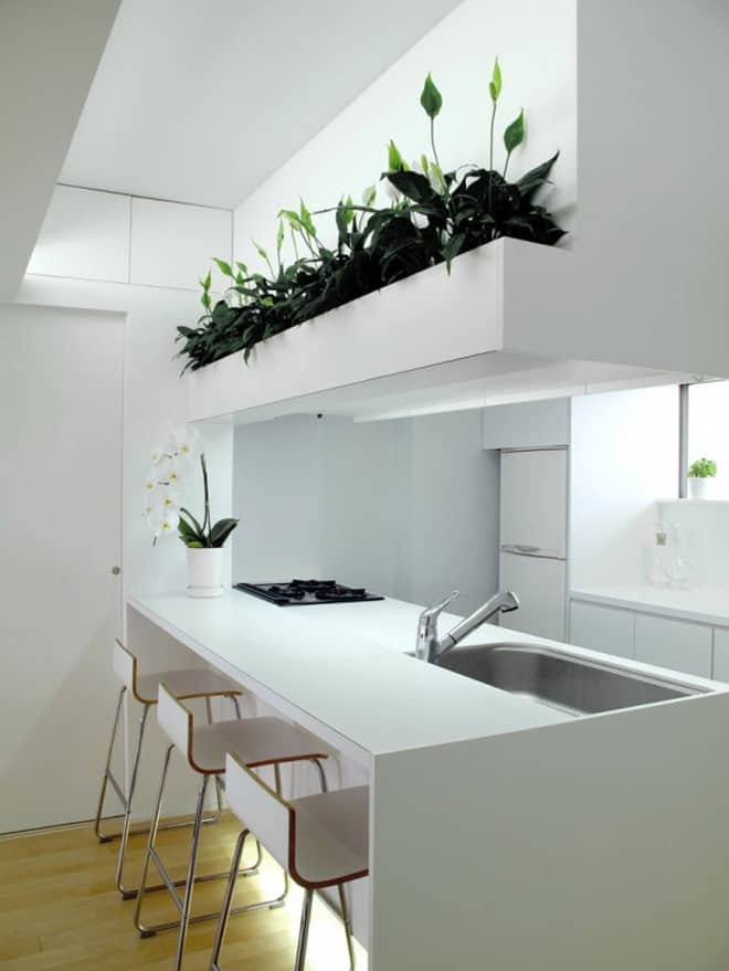 Kitchen Room Interior Design: Contemporary Japanese Home Design, M Mansion By BAKOKO