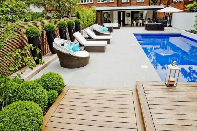 How to design a pool area for Garden pool decoration