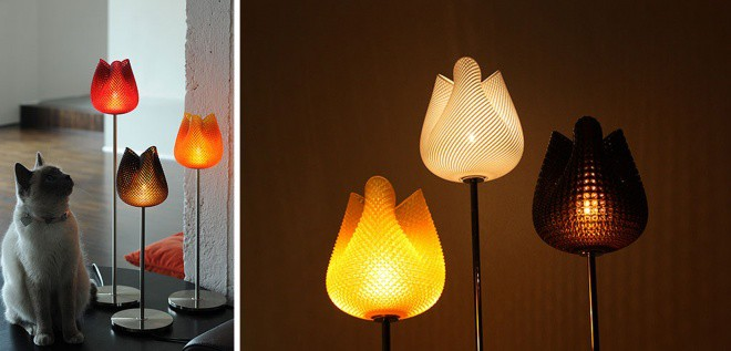 tulip classic lamp with shade table en lamps brass