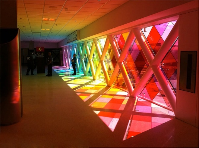 Harmonic runway an interactive sound light environment for Interactive interior design