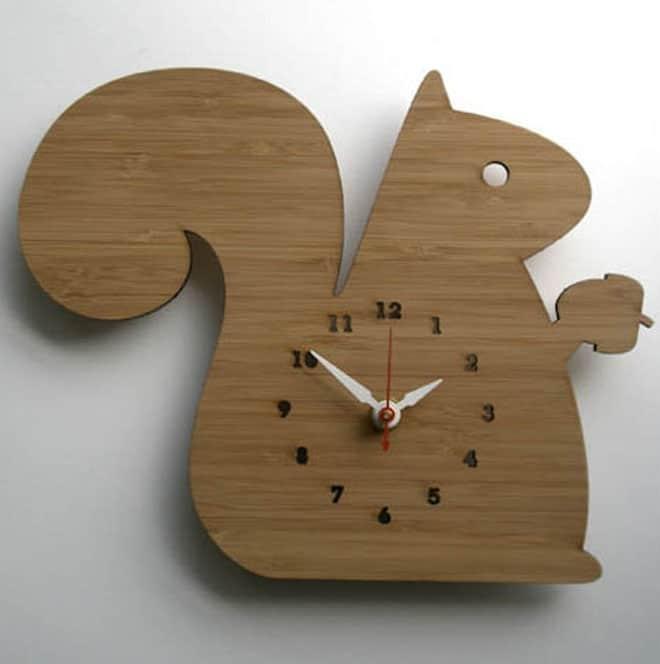 Decoylab Modern Animal Clock