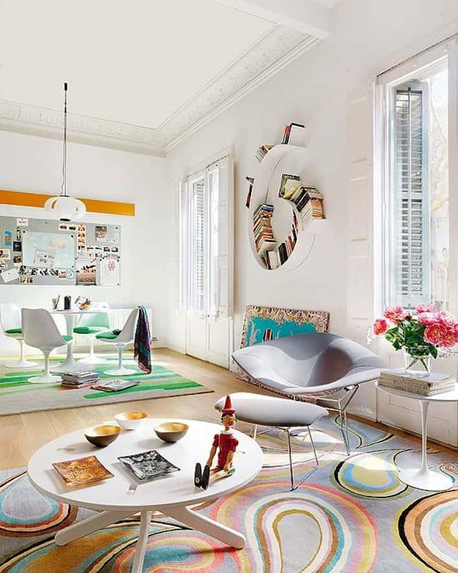 Colorful Living Room Interior Design Ideas: Apartment With Colorful Interior Design In Barcelona
