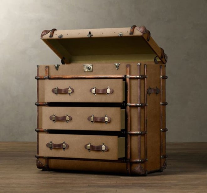 Steamer Trunk Table