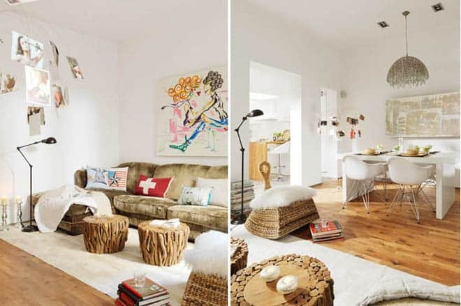 Cute interior design perfect for a young urban and for Living room ideas for young couples
