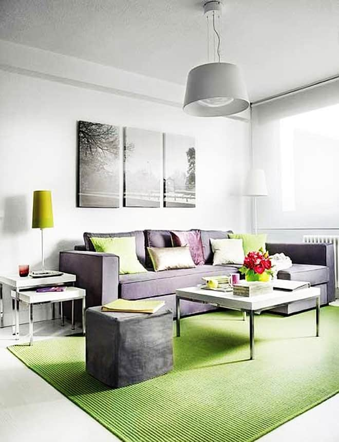 Great interior design of a small 40 square meter apartment for 40s room decor
