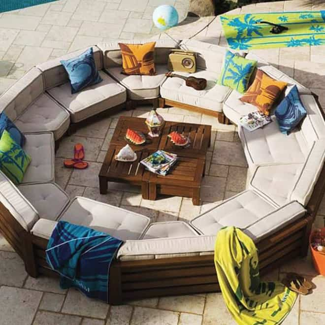 Outdoor sofa circle furniture design for Outdoor sofa plans