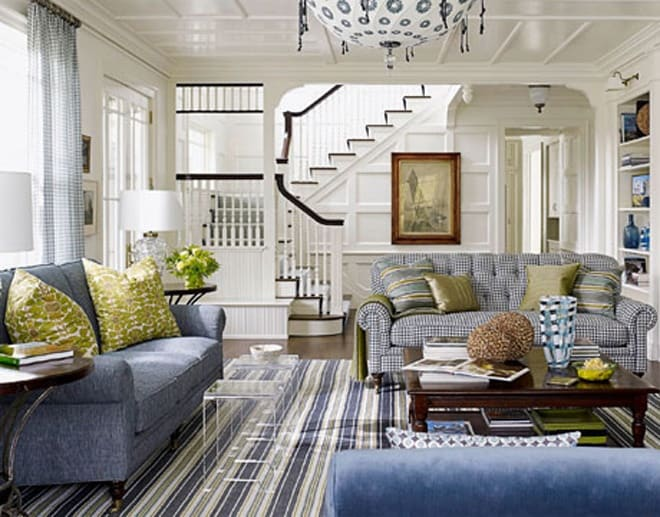 25 Blue And Green Interiors Design An Interesting Fresh Colors