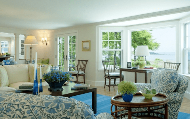 lovely blue green living room | 25 Blue and Green Interiors Design: An interesting and ...