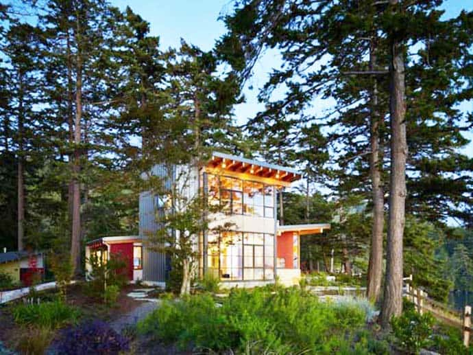 Davis residence beautiful combination of wood and glass by miller hull partnership - Maison davis miller hull partnership ...