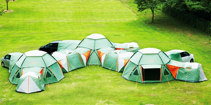 Comments & Endless Combination of Decagon Modular Tents Keep Luxury at Hand ...