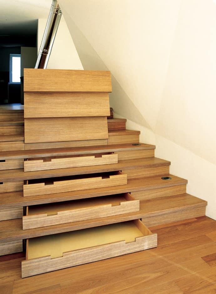 Wood Storage Under Stairs