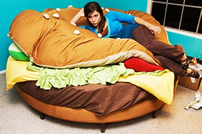 Delicious Sleep: The Hamburger Bed