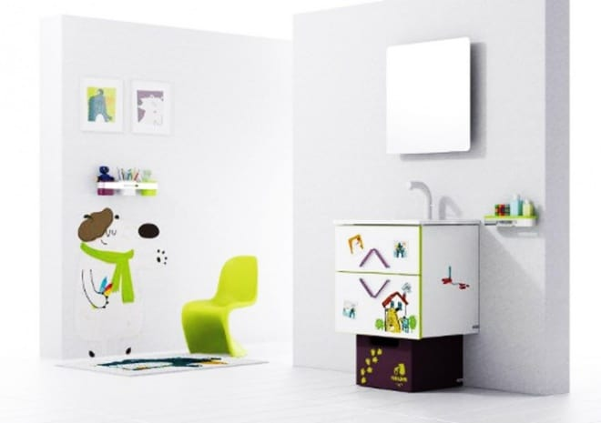 Modern kids bathroom decor ideas by sonia for Bathroom decor 2012