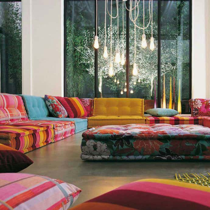 Modern Furniture Colorful Living Rooms Decorating Ideas 2012: 20 Inspiring Ideas: Colorful Living Room Decoration With