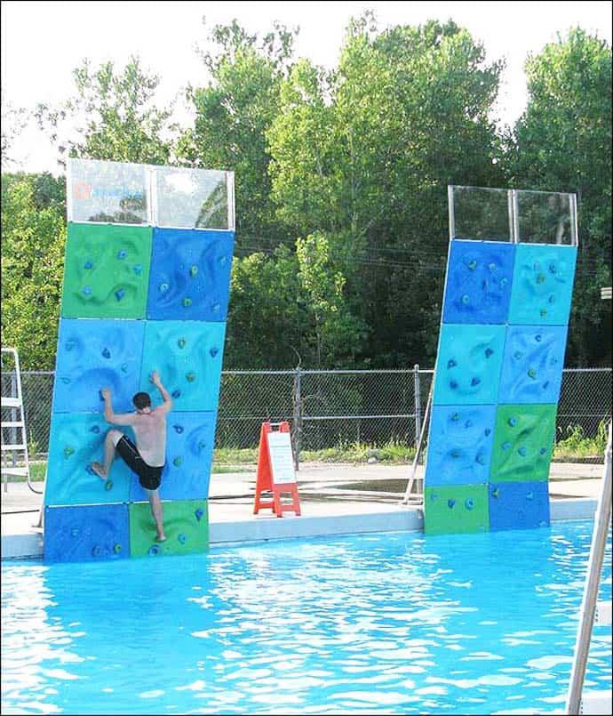 AquaClimb Poolside Climbing Walls