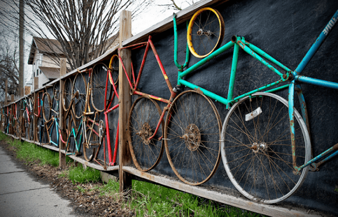 10 Awesome Fences Created From Recycled Sports Gear