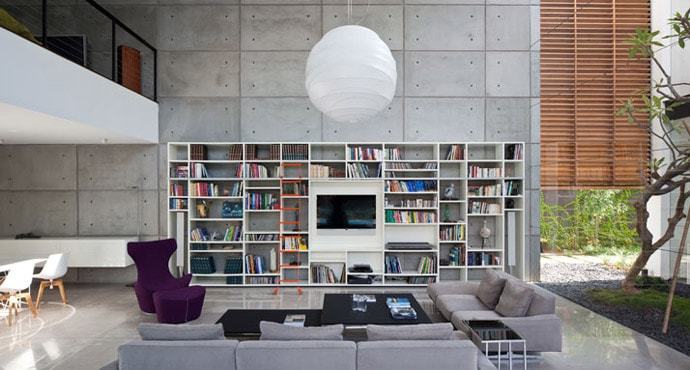 Contemporary Bauhaus Residence on the Carmel by Pitsou Kedem Architects