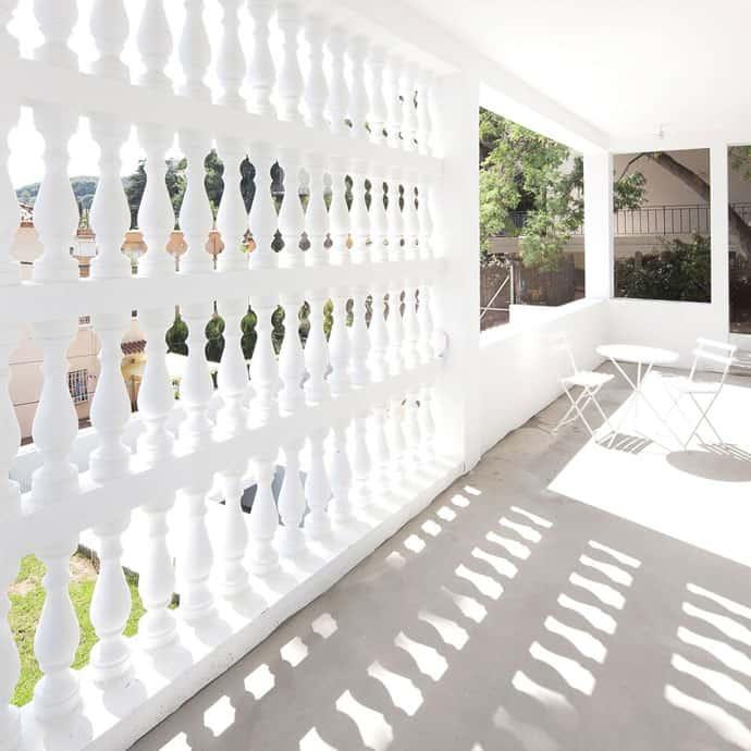 Baluster Lattice House By 05am Architects In Vallvidrera