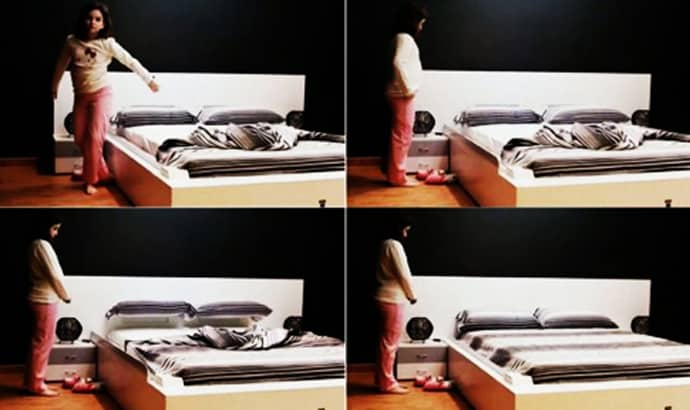 Tired of making your bed try self making smart bed by - Cama que se hace sola ...