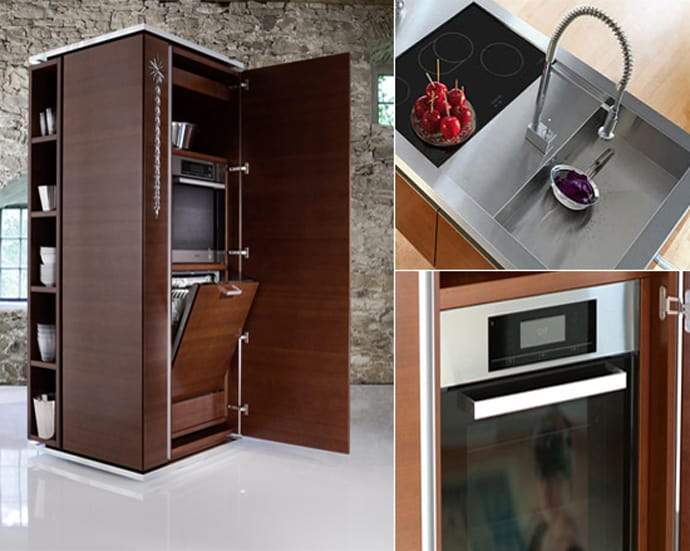 Compact Tower Kitchen By Philippe Starcke