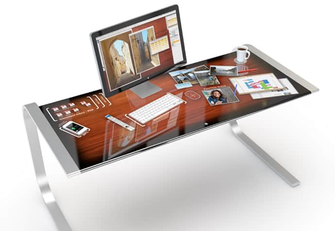 Entire Touchscreen Desk Makes Your Work More Efficiently