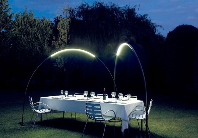 Halley for vibia lights your garden with these unusual for Eclairage contemporain design