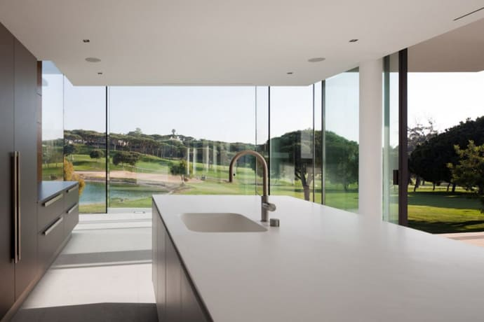 A Mix Of Wood And Glass Casa Vale Do Lobo By Arqui