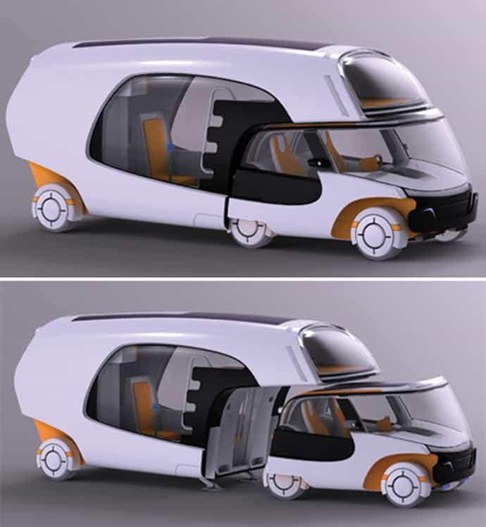 Colim Caravan With 2 Detachable Parts Car And Mobile Home