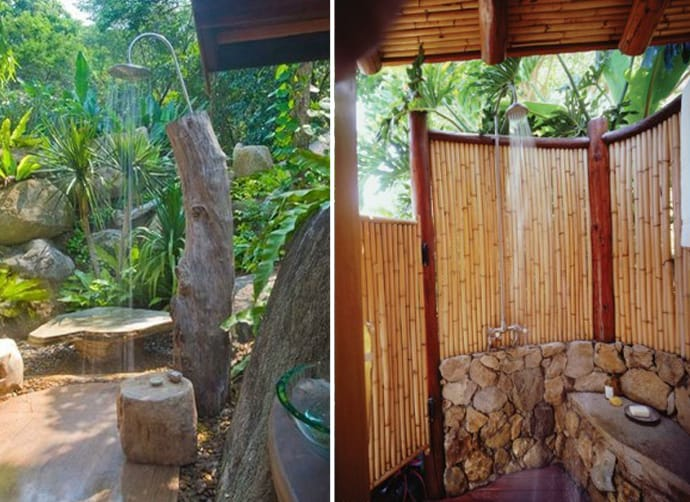 20 irresistible outdoor shower designs for your garden - How to make an outdoor shower ...