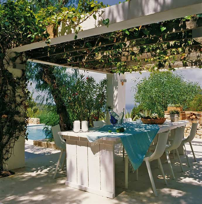 Pool House With Mediterranean Style In Ibiza Spain