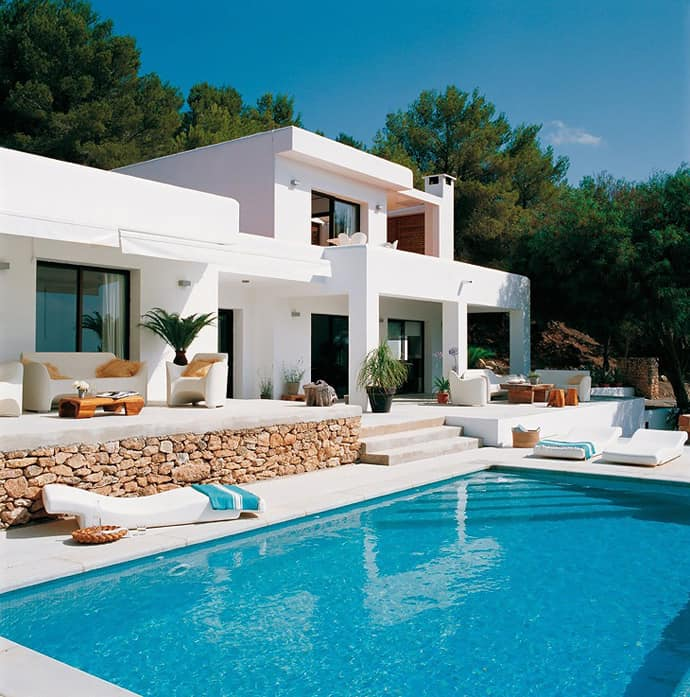 Beautiful Houses With Pools: Pool House With Mediterranean Style In Ibiza, Spain