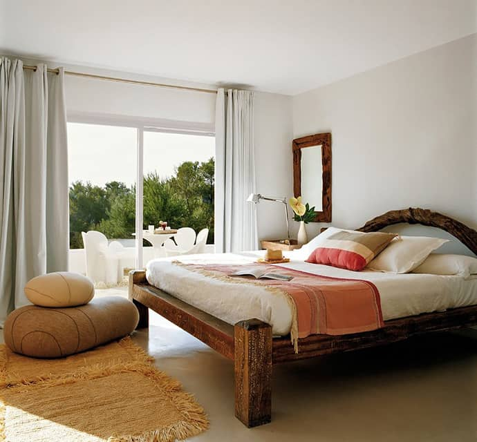 Pool house with mediterranean style in ibiza spain for Mediterranean style bedroom