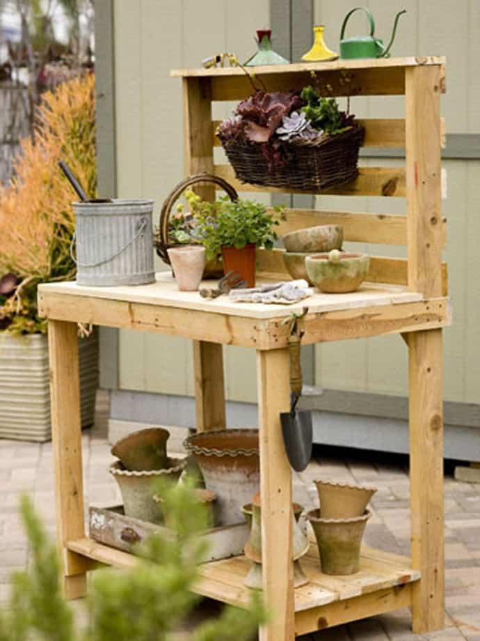 Creative recycling wooden pallets ideas to do right now in for Bancas para jardin de madera