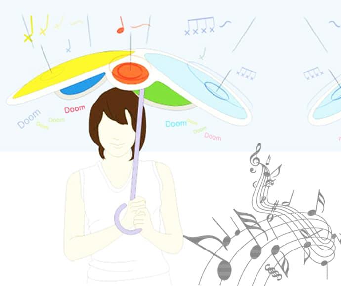 Rain Drum Umbrella Creates Instant Drum Beats In Use Designrulz