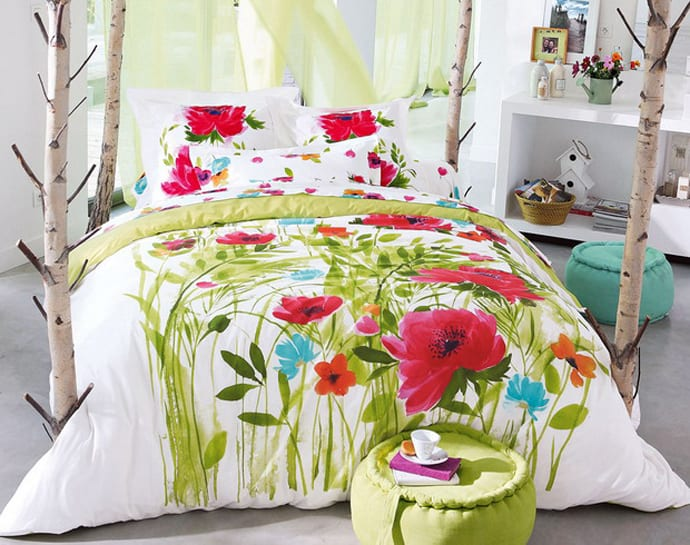 Sleep in heaven with 30 colorful bed covers for Parure housse de couette ikea