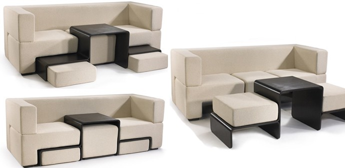 Modular slot sofa a dynamic piece of furniture perfect for small spaces - Modular sectional sofas for small spaces decoration ...