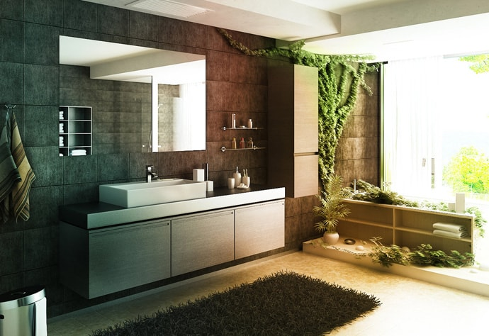 18 Ideas Of Bathroom Design With Natural Influences