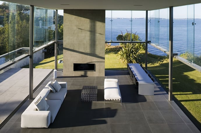 Modern Home Design New Zealand Cliff House In Auckland By