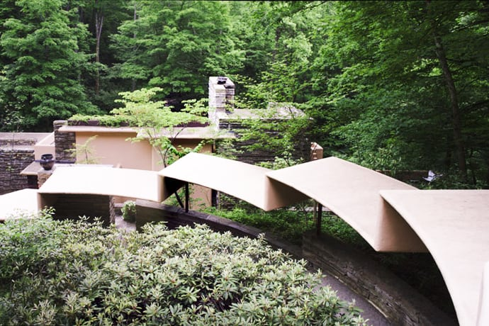 fallingwater house by frank lloyd wright video. Black Bedroom Furniture Sets. Home Design Ideas