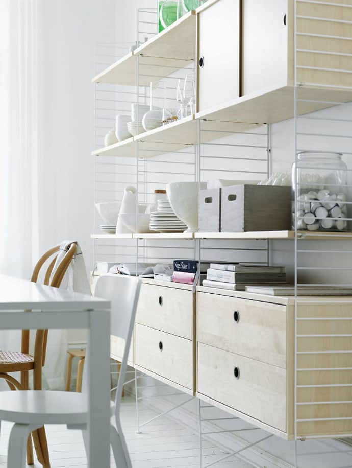 Light Weight Yet Stable Shelving Systems By String Furniture
