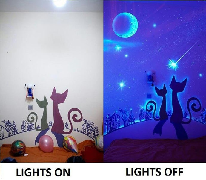 glow in the dark bedroom decoration