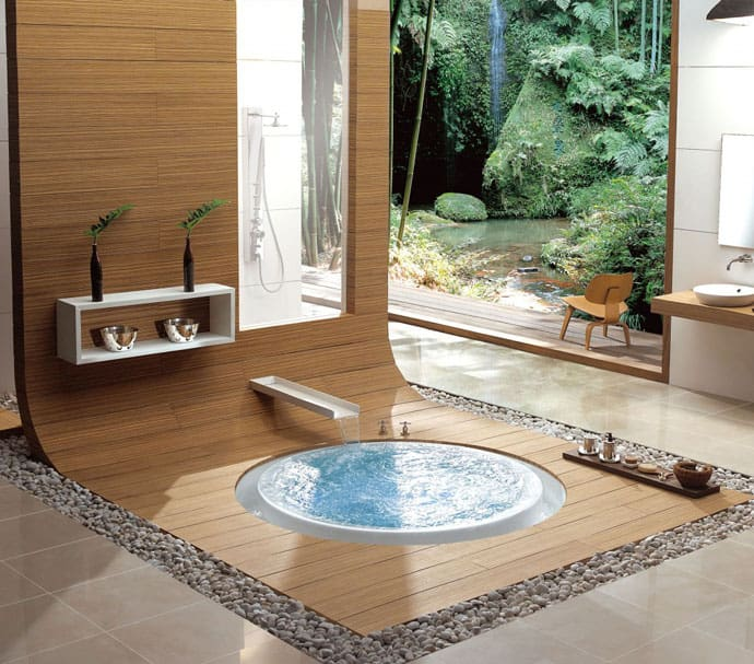 18 ideas of bathroom design with natural influencesBathrooms Natural Design #16